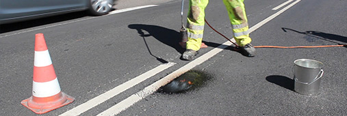 Hot applied road repair